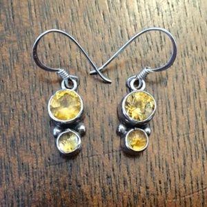 Yellow Dangling Earrings